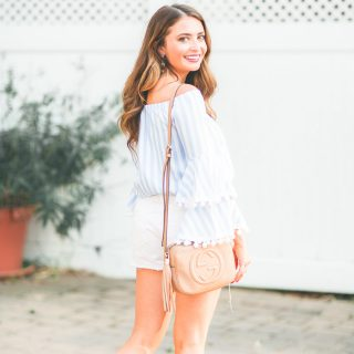 Revolve Pom Pom Top featured by popular Orange County fashion blogger, Maxie Elle