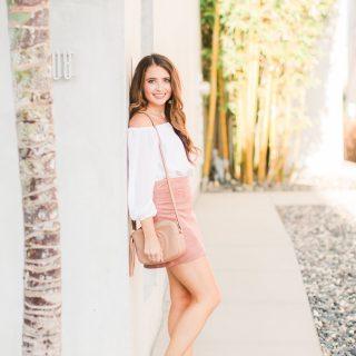 Maxie Elle   Pink suede skirt
