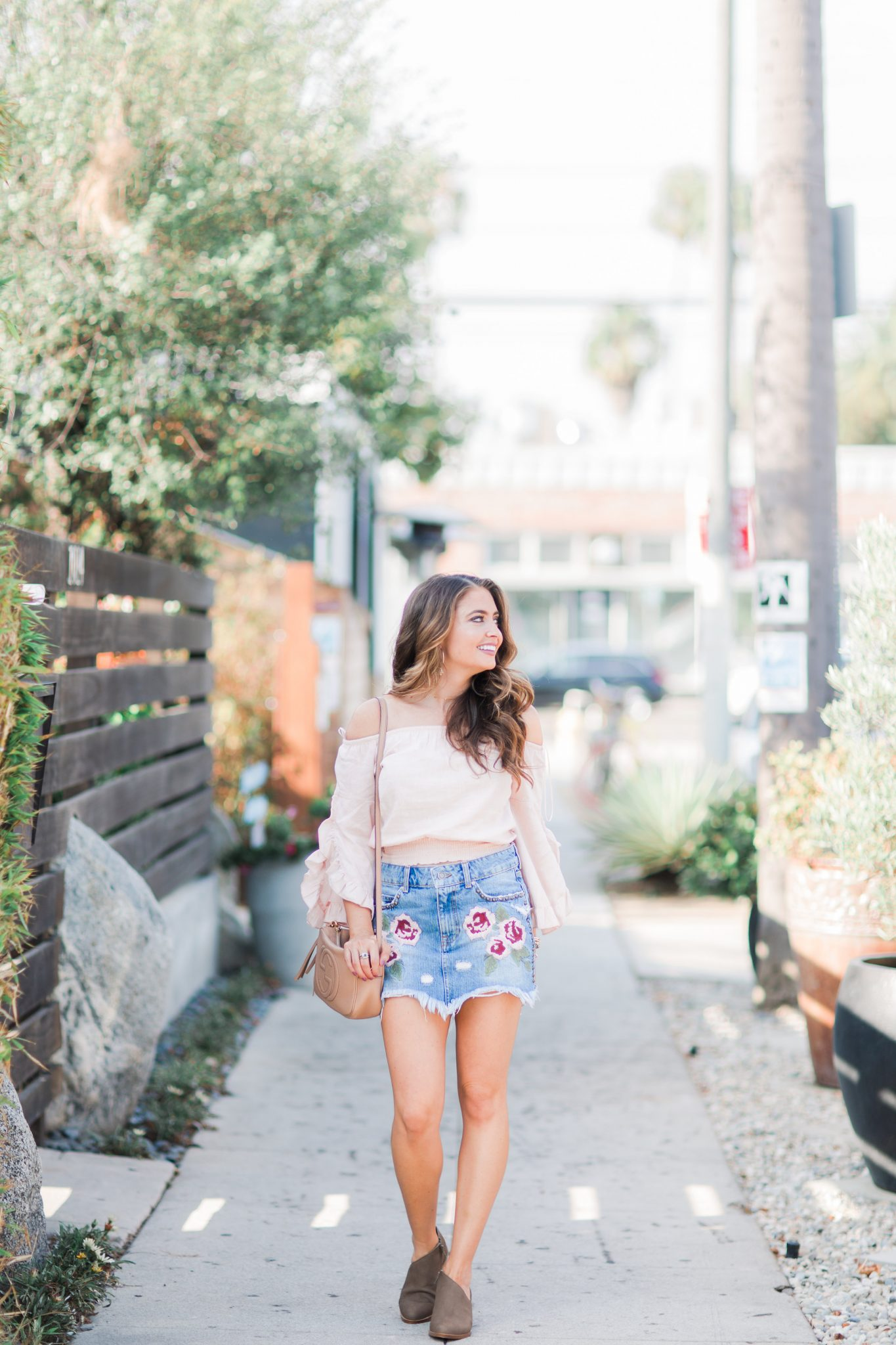 Maxie Elle | Embroidered Denim Skirt