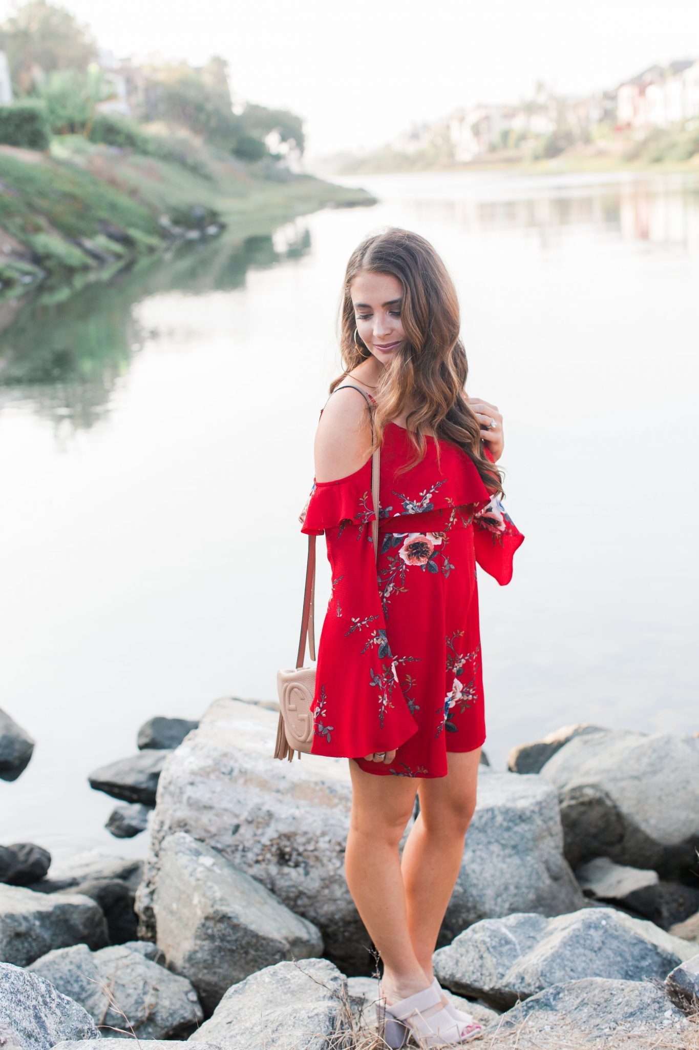 Maxie Elle | Red floral dress