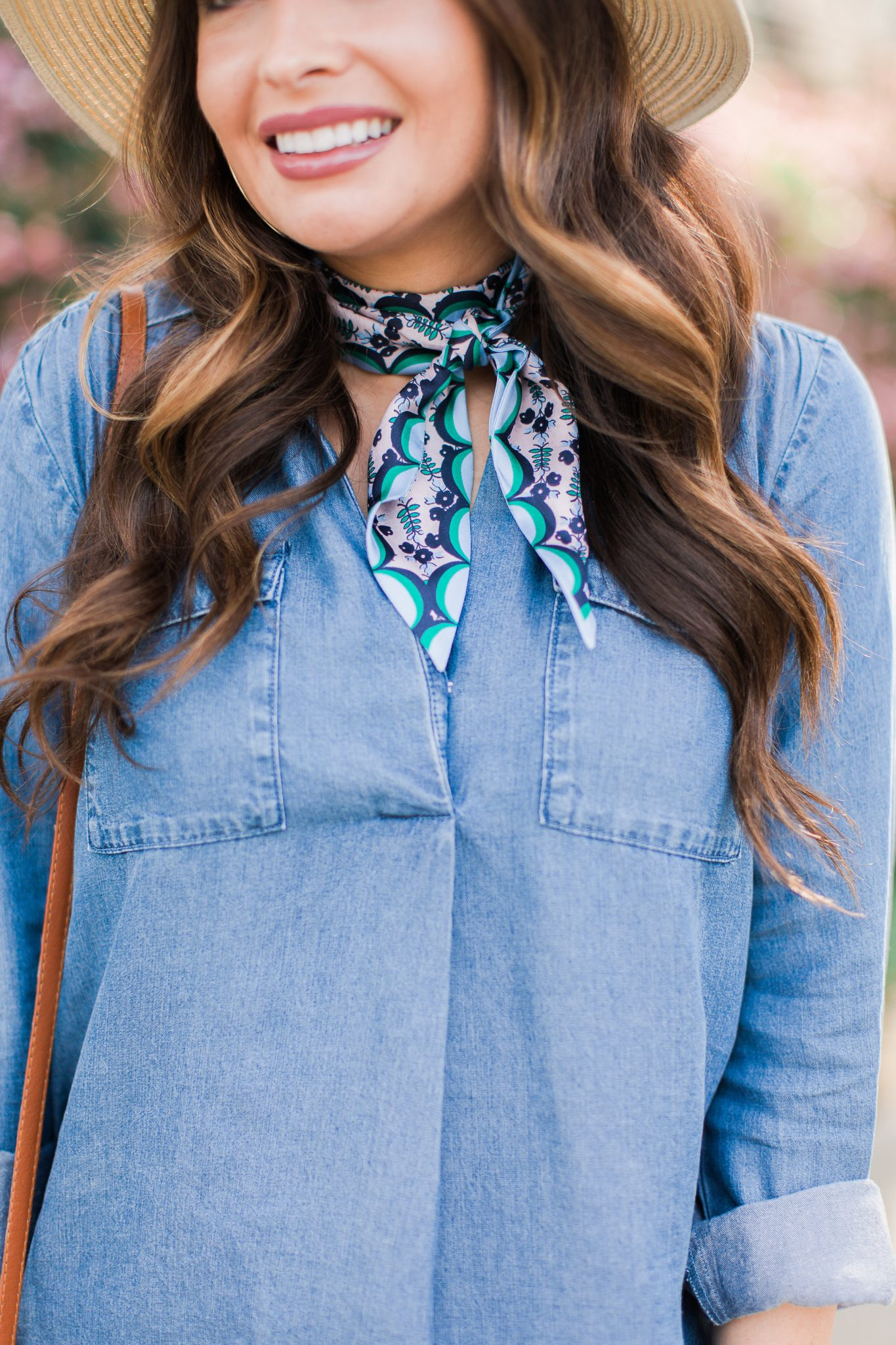 How To Elevate a Chambray Top by popular Orange County fashion blogger Maxie Elle