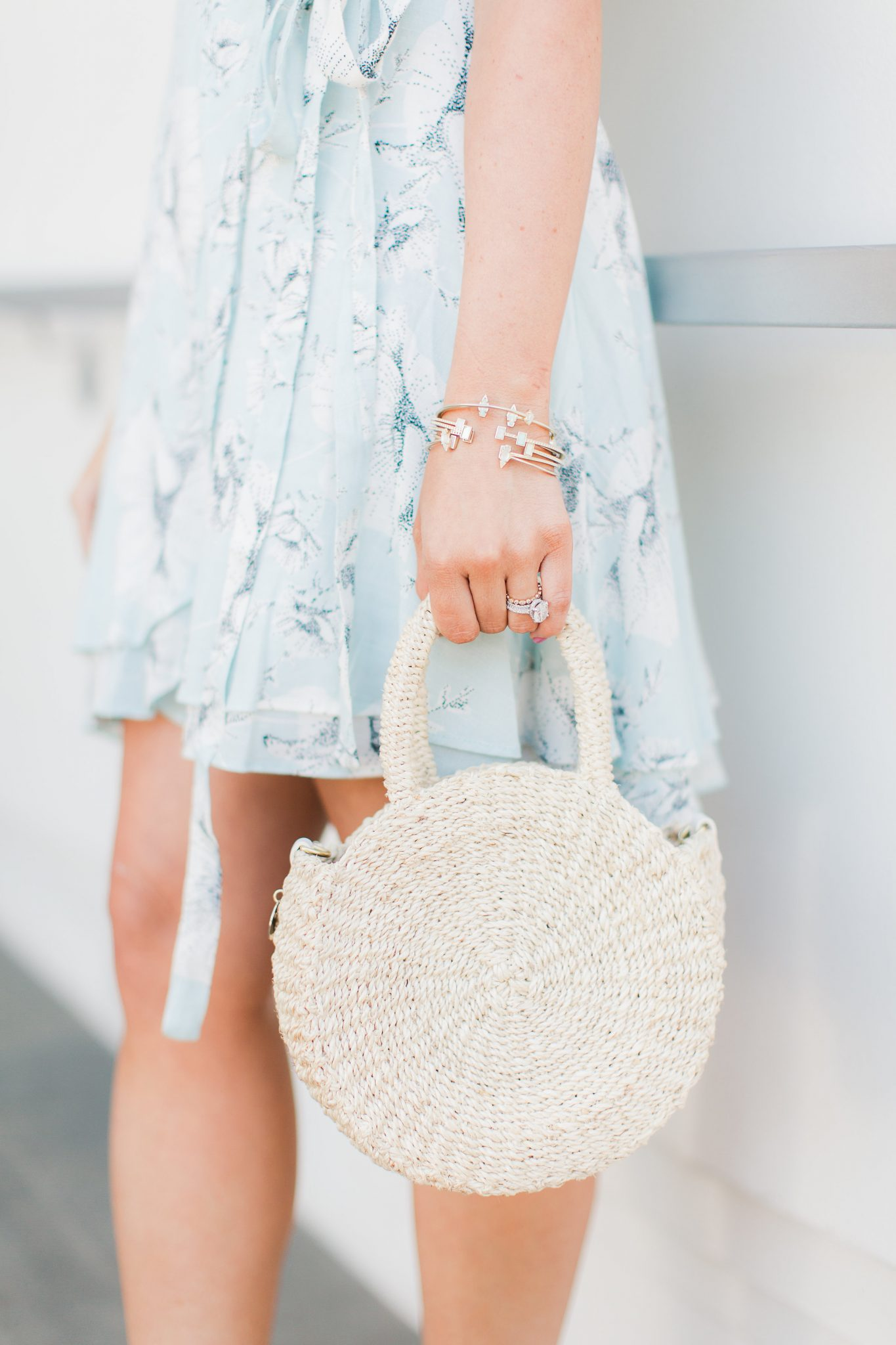 Clare V Petite Alice Bag in Cream - My Favorite Cute Easter Dresses by popular Orange County fashion blogger Maxie Elise
