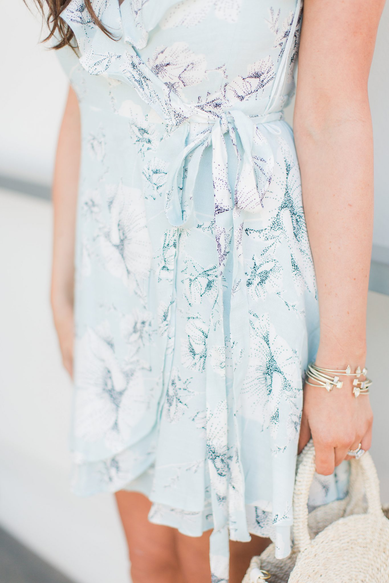 Free People floral wrap dress - My Favorite Cute Easter Dresses by popular Orange County fashion blogger Maxie Elise