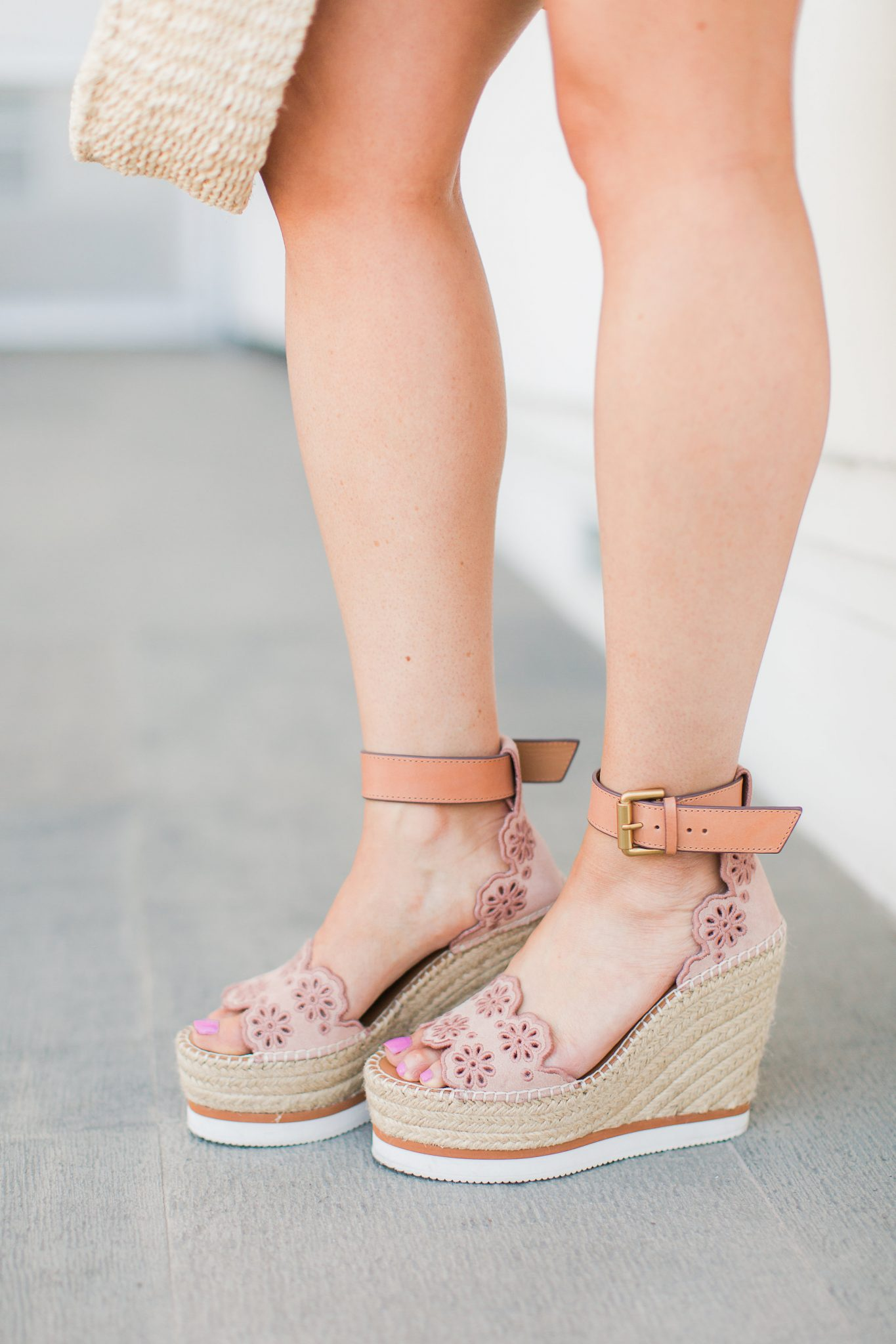 See by Chloe espadrille wedges by popular Orange County fashion blogger Maxie Elise