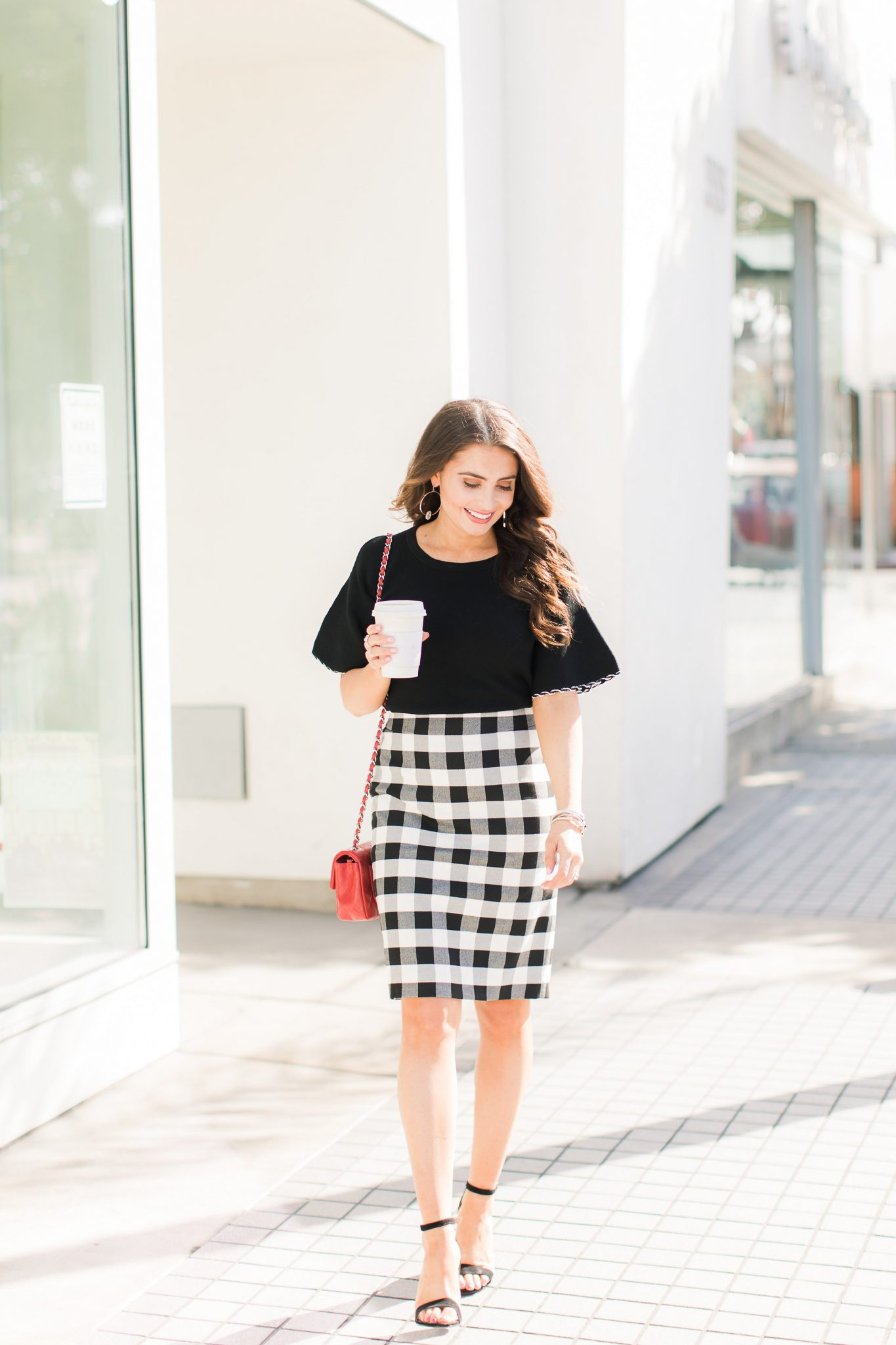 Gingham Trend with Ann Taylor featured by popular Orange County fashion blogger, Maxie Elle
