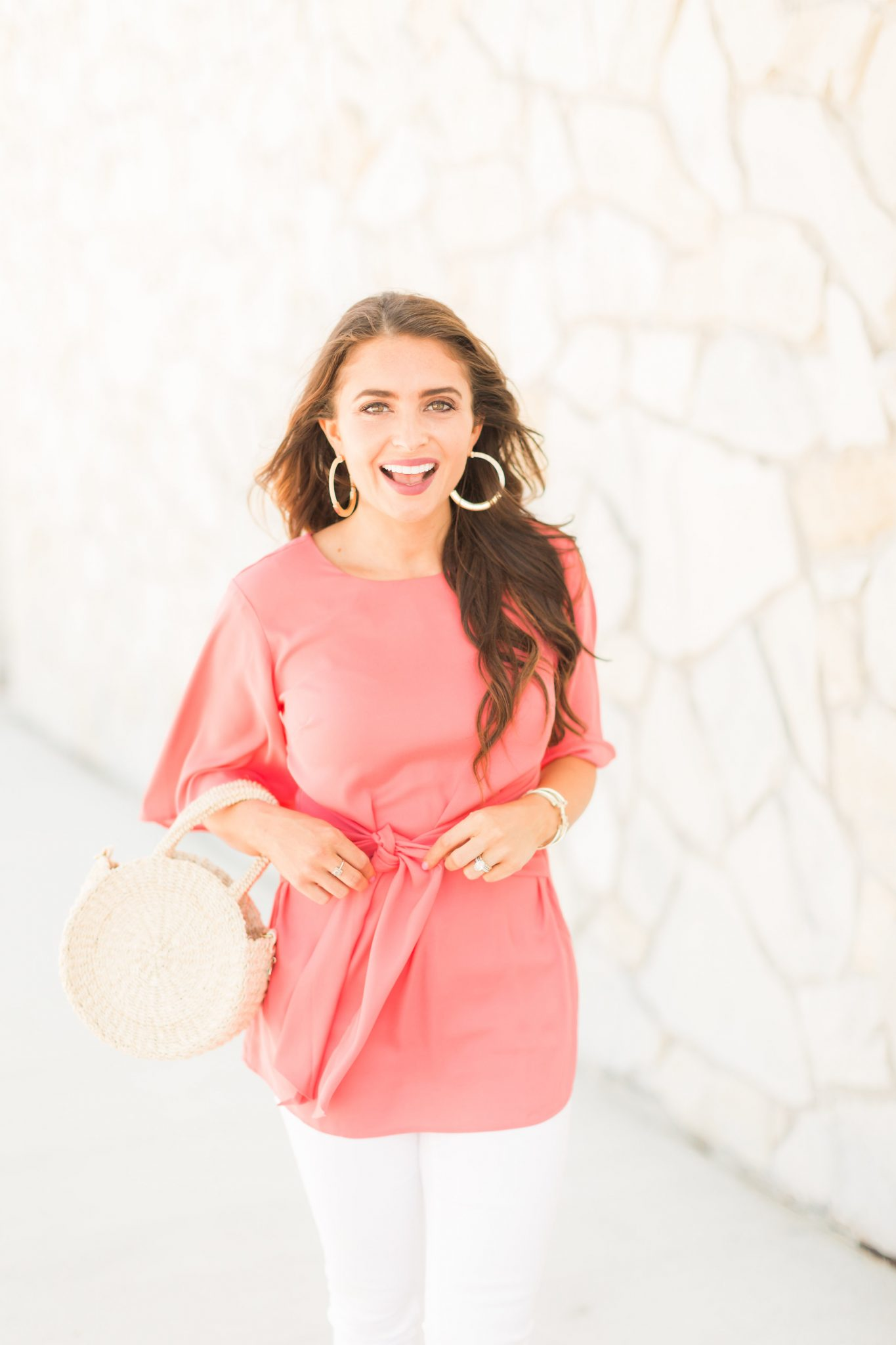 Ann Taylor Figure flattering clothes featured by popular Orange County fashion blogger, Maxie Elle