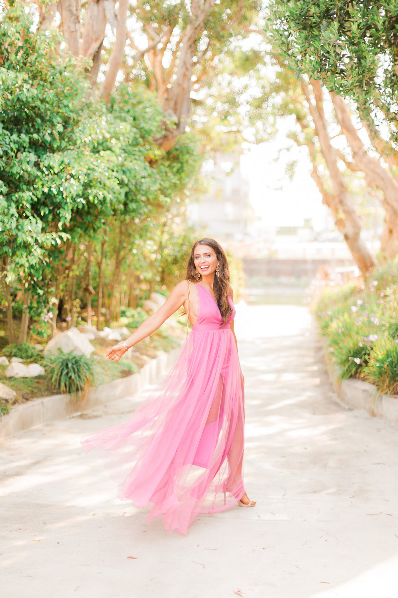 Pink Party Dresses for Fall featured by popular Orange County fashion blogger, Maxie Elise