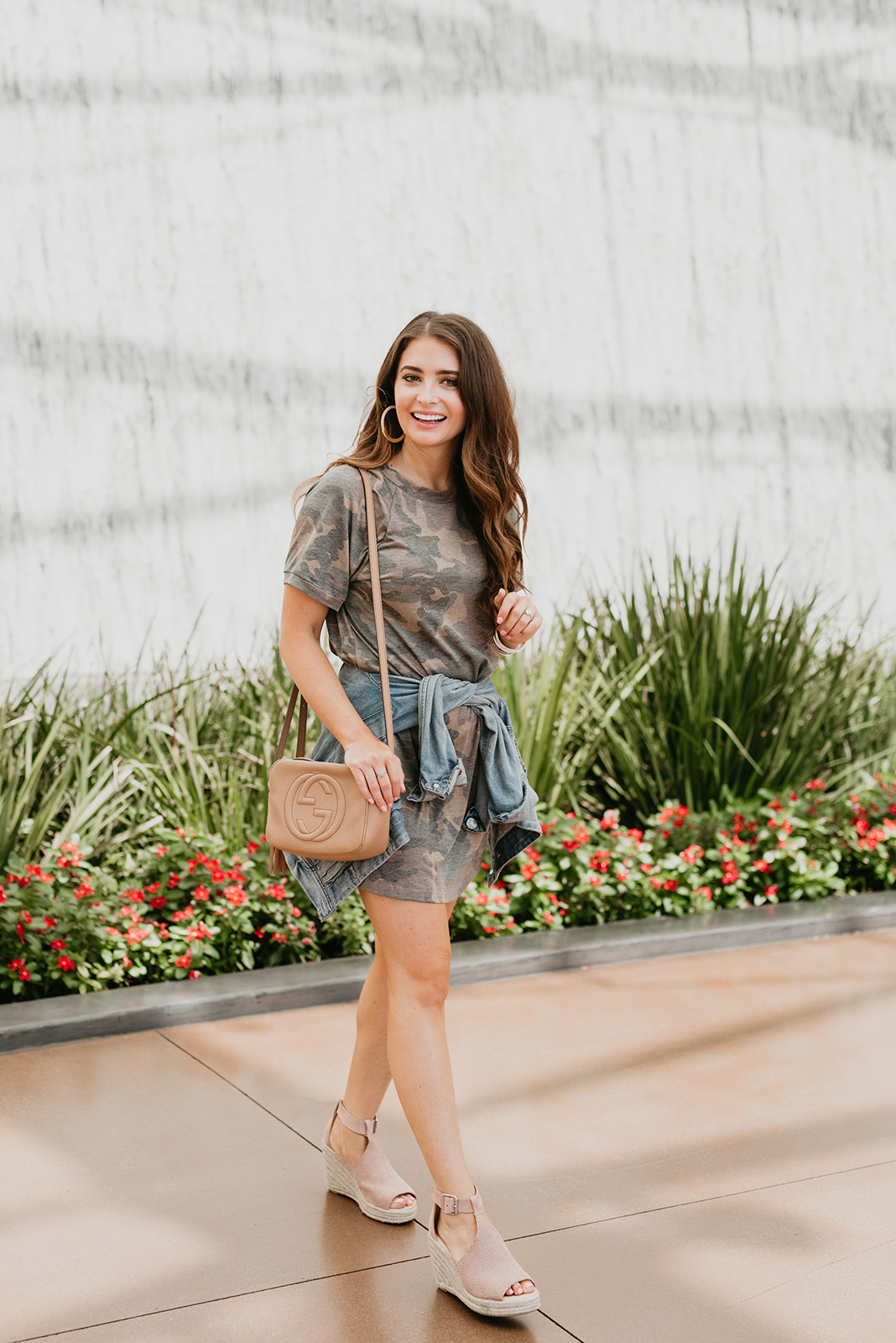 Fall camo outfits styled on top Orange County fashion blog, Maxie Elise