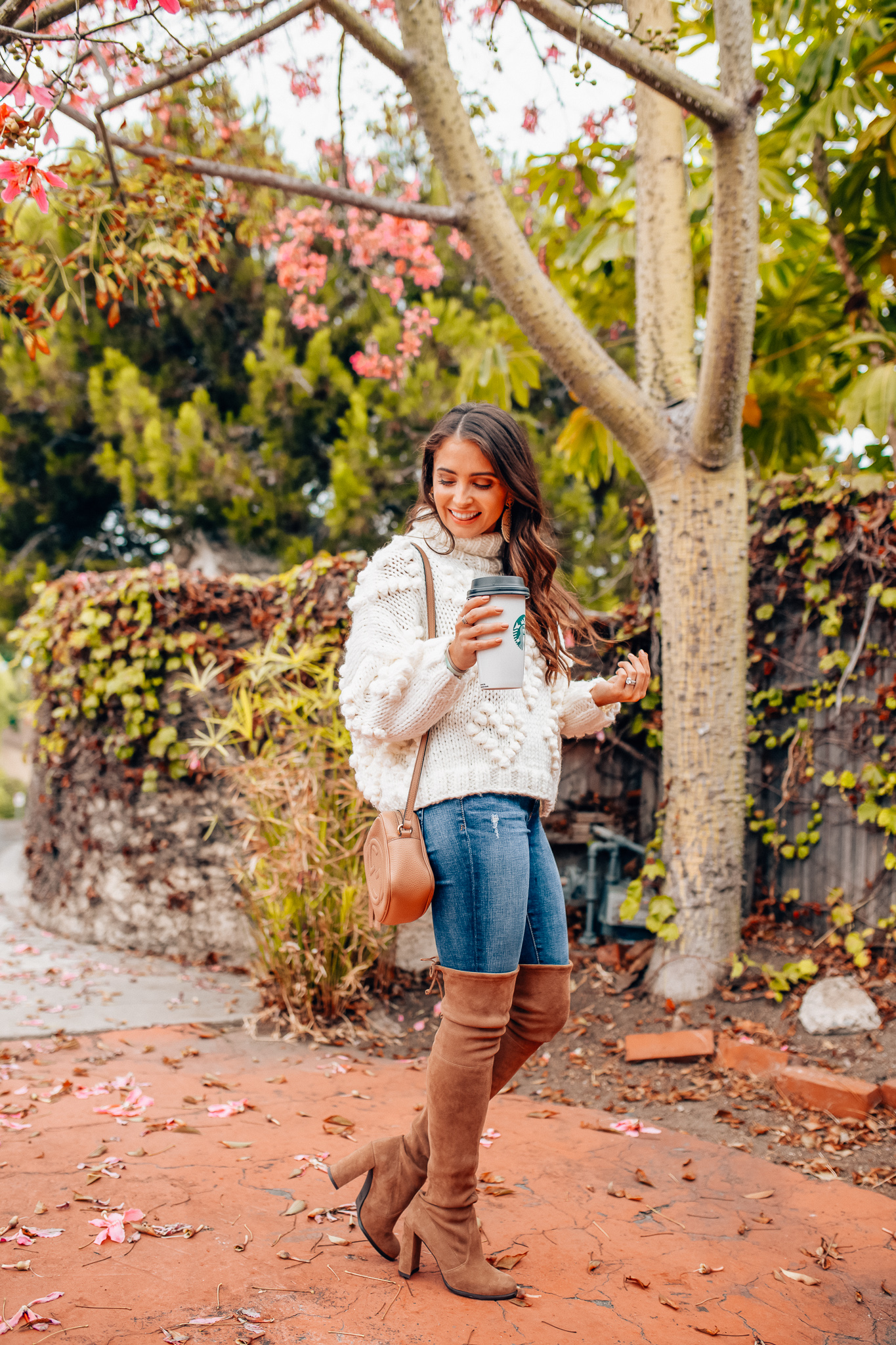 Chicwish cozy fall sweater styled by top Orange County fashion blog, Maxie Elise