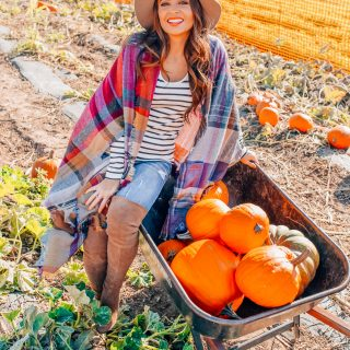 Fall plaid outfits featured by top Orange County fashion blog, Maxie Elise