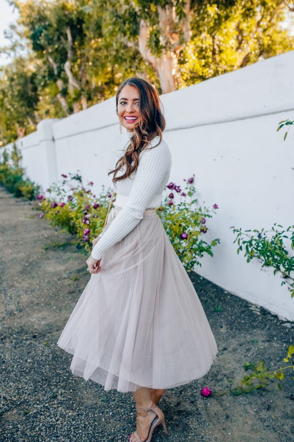 How to Style a Tulle Skirt for Winter