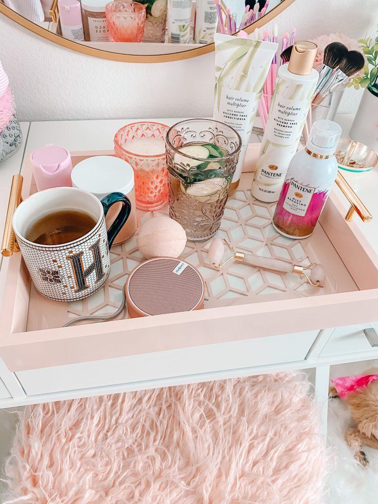 Pink vanity Tray